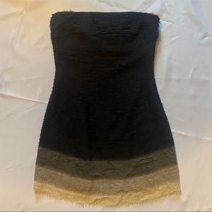 ALICE + OLIVIA silk ombre strapless dress